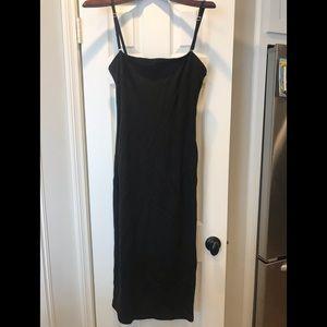Designer stretch black dress
